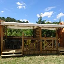 Terrasse de la cabane magique
