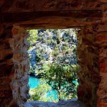 Vue du Verdon par la fenêtre en ballade
