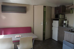 Mobil-home Loggia Bois-2 chambres-sdb-wc