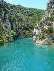 Canoë dans les Gorges du  Verdon