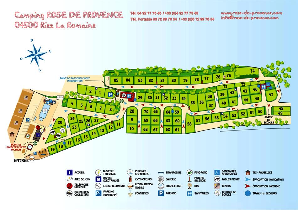Map of Camping Rose de Provence - Verdon***